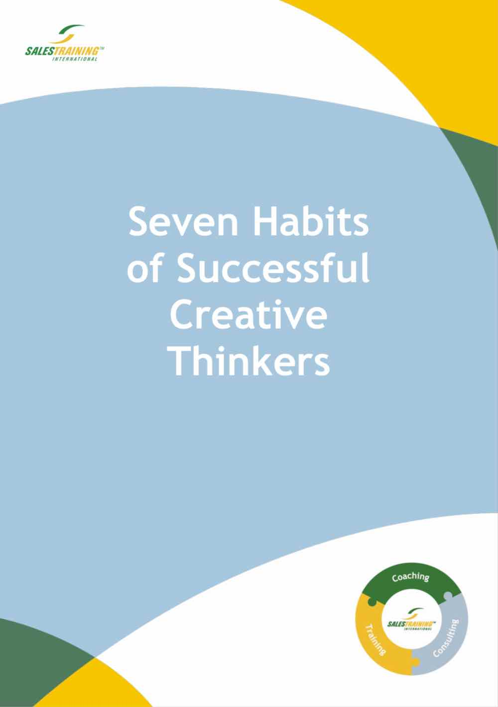 Seven Habits of Successful Creative Thinkers